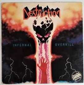 Destruction Infernal Overkill Lp Vinilo Metal Blade / 1985