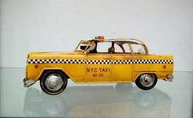 Hp Antiguo Carro de Lata Taxi