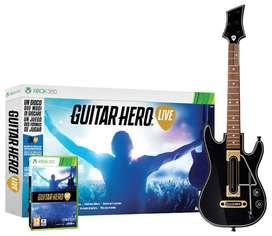 Guitar Hero Live XBOX 360 Bundle con Guitarra en Español. Bogotá