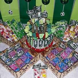 Candy bar personalizado. Todos los motivos y colores.