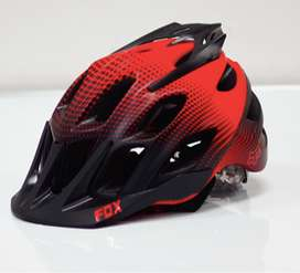 CASCO FOX CICLISMO NEGRO ROJO FLUX
