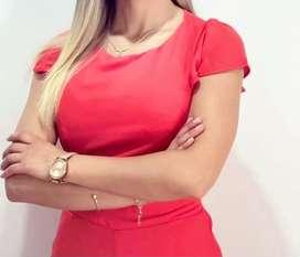Vestido enterizo rojo