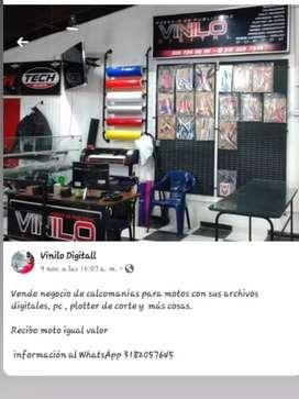 se vende o se cambia local de calcomanías  y publicidad