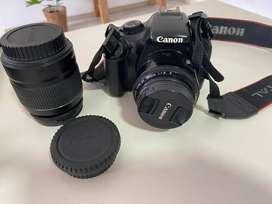 Ganga: Camara canon Eos Rebel T3 + lentes 18 y 50 mm + tripode+ bolso