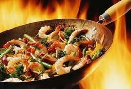 Cocinero arroz al wok