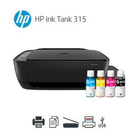 Impresora Hp Multifuncional InkTank 310/315 Con Sistema Continuo