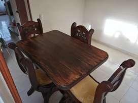 Comedor rústico 4 puestos y mesa de tv rústica
