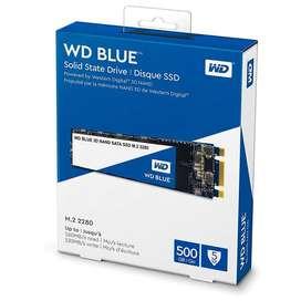 Disco Interno SSD Western Digital Blue 500GB 3D M.2 2280, hasta 500 MB/s