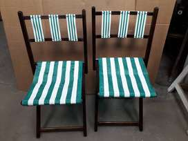 sillas plegadiza para campin o sentarse al aire libre