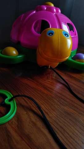 Juguete arrastre tortuga