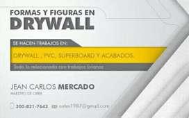 Ofresco mis servicios en construcciones livianas drywall pvc superboar y acabado