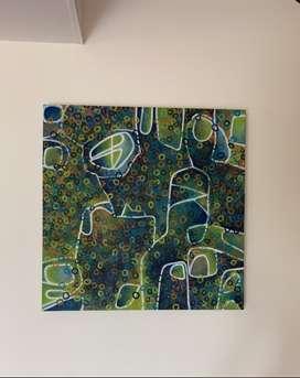 Pintura al óleo. Geométrico - abstracto moderno