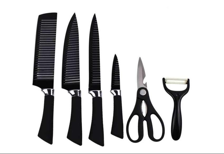 Set Cuchillos X 6 Piezas Pelador + Tijeras 0