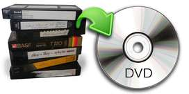 Transfer a DVD Formatos VHS, Betamax, HI 8, Mini DV, LP acetato