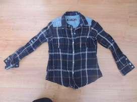Camisa Leñadora Bkul Jeans Talla 5 6