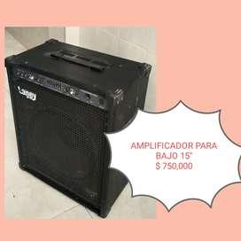 """Amplificador para bajo marca laney 15"""" 300 W"""