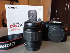 Camara Canon Rebel EOS T6 18-55mm