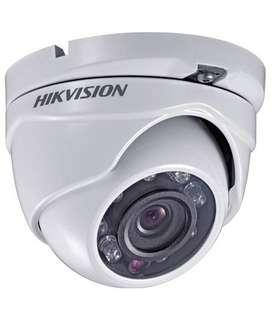Hikvision Turbohd Domo- Camara De Seguridad- 720p + Fuente!