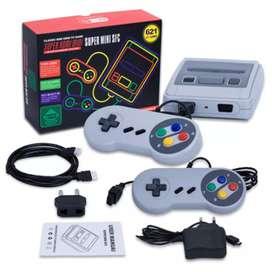 Consola Retro Super Mini Sfc 620 Juegos Clásicos + 2 Controles