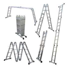 Escalera Multipropósito Plegable Aluminio 16 Envio Gratis