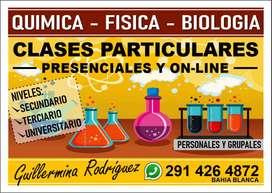Clases de química, biología ,fisicoquimica