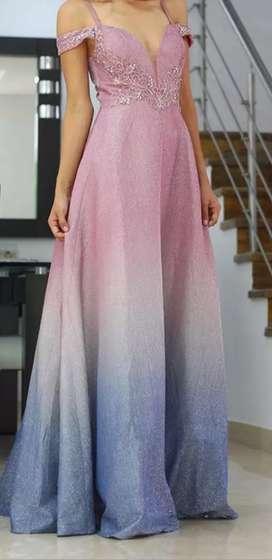 """Vestido Largo, elegante en degrade """"Nuevo"""""""