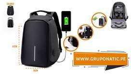 Mochila Antirrobo Impermeable Laptop Usb Gruponatic San Miguel Surquillo Independencia La Molina