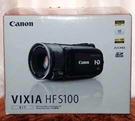 Videocámara HD  canon vixia hf s100 (negociable)