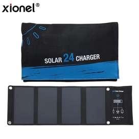 Cargador panel solar 24w