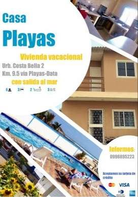 Cómoda casa en Conjunto Residencial con salida al mar, vía Playas Data