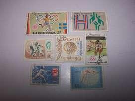 estampillas coleccion olimpiadas