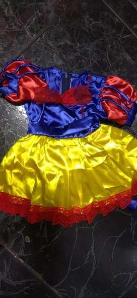 Disfraz princesa colombianita talla 2