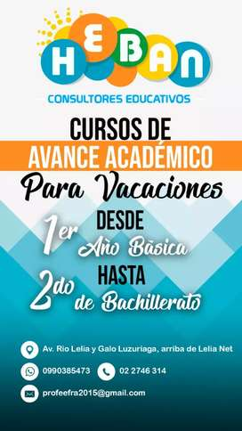 CURSO VACACIONALES TODAS LAS EDADES