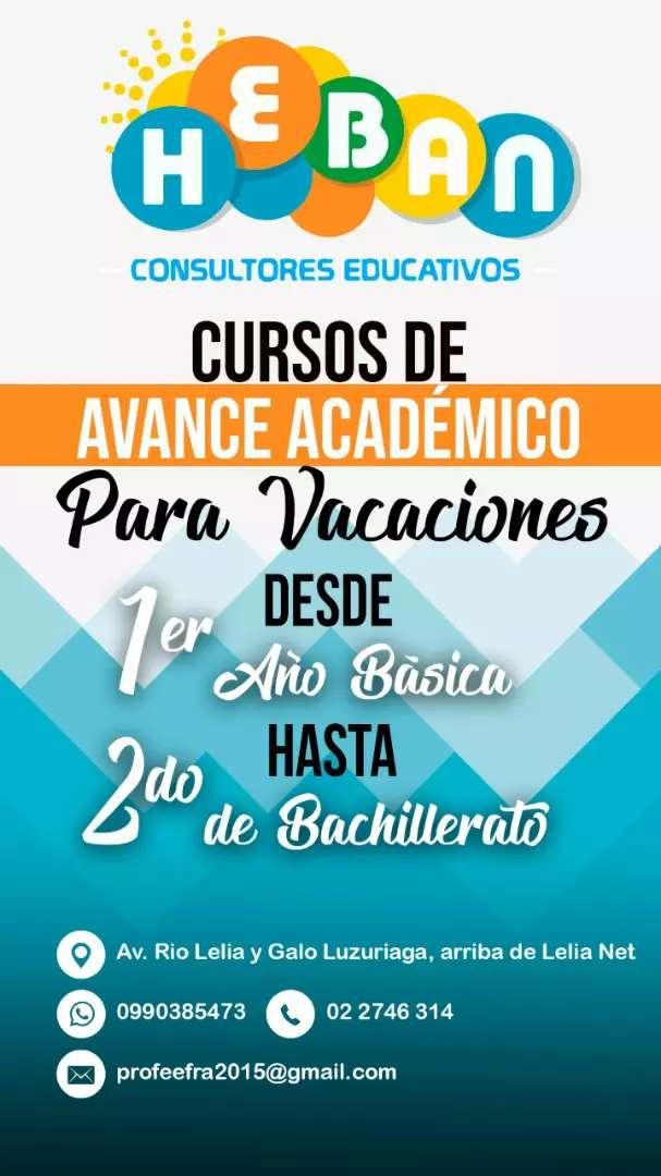 CURSO VACACIONALES TODAS LAS EDADES 0
