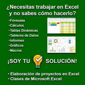 Trabajos y Clases de Microsoft Excel a Domicilio y Online
