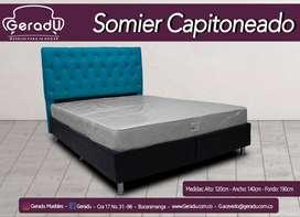 Base cama  con cabecero económica