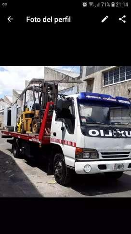 Grúa auxilio traslado de vehículos maquinarias