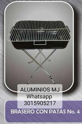 Asador Carbon Patas Grande Aluminios MJ