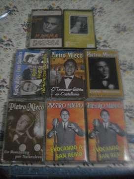 Lote De 6 Casettes Pietro Mieco Mas Dos De Regalo