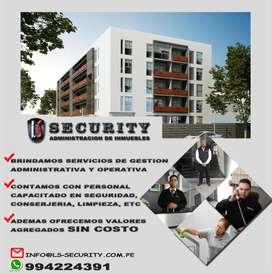 ADMINISTRACION DE EDIFICIOS , CONDOMINIOS , ALMACENES - PERSONAL DE SEGURIDAD , MANTENIMIENTO - LS SECURITY SAC