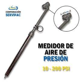 MEDIDOR DE AIRE DE PRESIÓN/ 200 PSI / LLANTAS PARA CAMIONES DE CARGA PESADA.