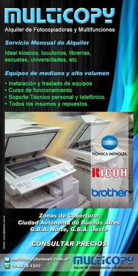 Alquiler De Fotocopiadoras Y Multifunciones