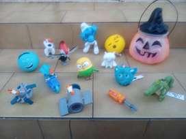 (CASEROS) Lote 13 muñecos de Mc Donalds para nene y un estuche