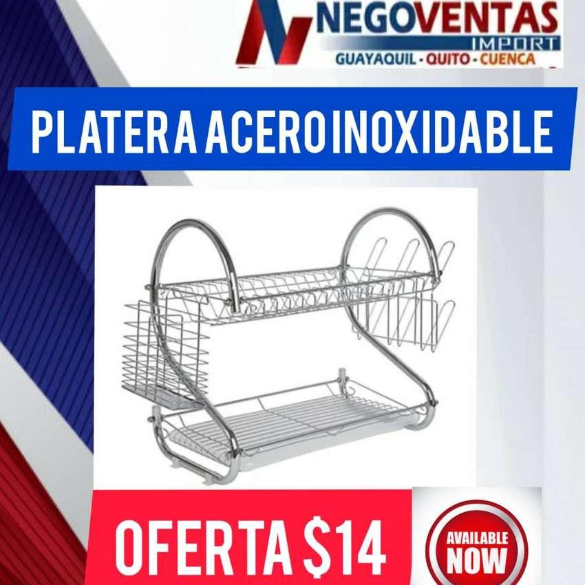 PLATERA DE ACERO INOXIDABLE 0