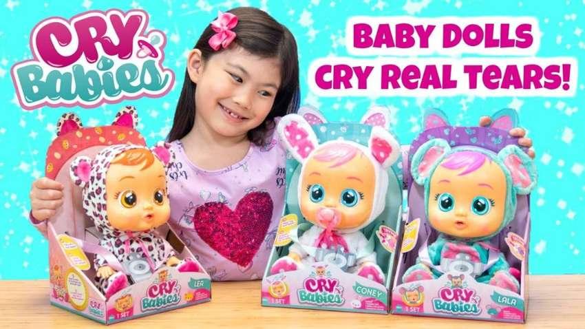 CRY BABIES CON LICENCIA ORIGINAL llora con lagrimas de verdad y sonido 0