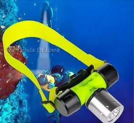 KIT LINTERNA CABEZA BUCEO RECARGABLE 60MT LED XML T6 2000LUMENS