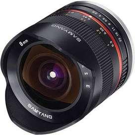 Lente Samyang 8mm f2-8 para Sony E