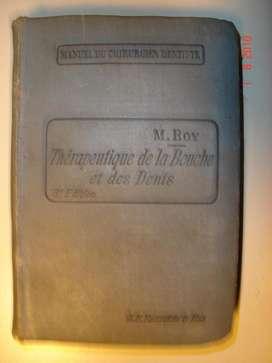 Libro De Cirugia Dentista Por M. Roy Francia 1910 360 Paginas