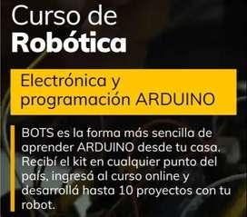 Invertí en tu futuro!!! Curso De Robótica A Distancia + Kit Arduino