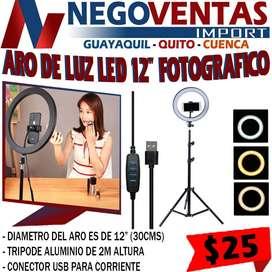 """ARO DE LUZ LED 12"""" IDEAL PARA MAQUILLAJE,FOTO Y VIDEOS"""